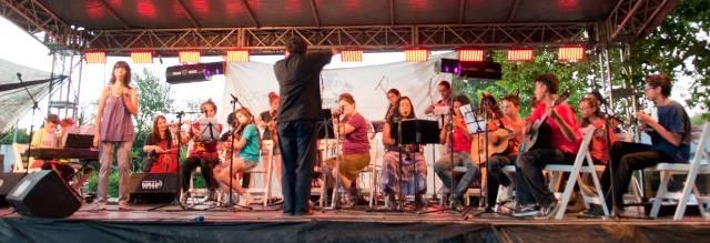 Graciela Pesce y el grupo Yupana Artes en el Segundo Encuentro de Tango y Juventud Villa Espil 2014